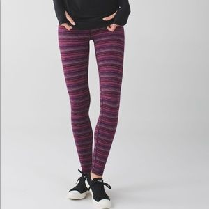 Lululemon Wonder Under III Space Dye Regal Plum